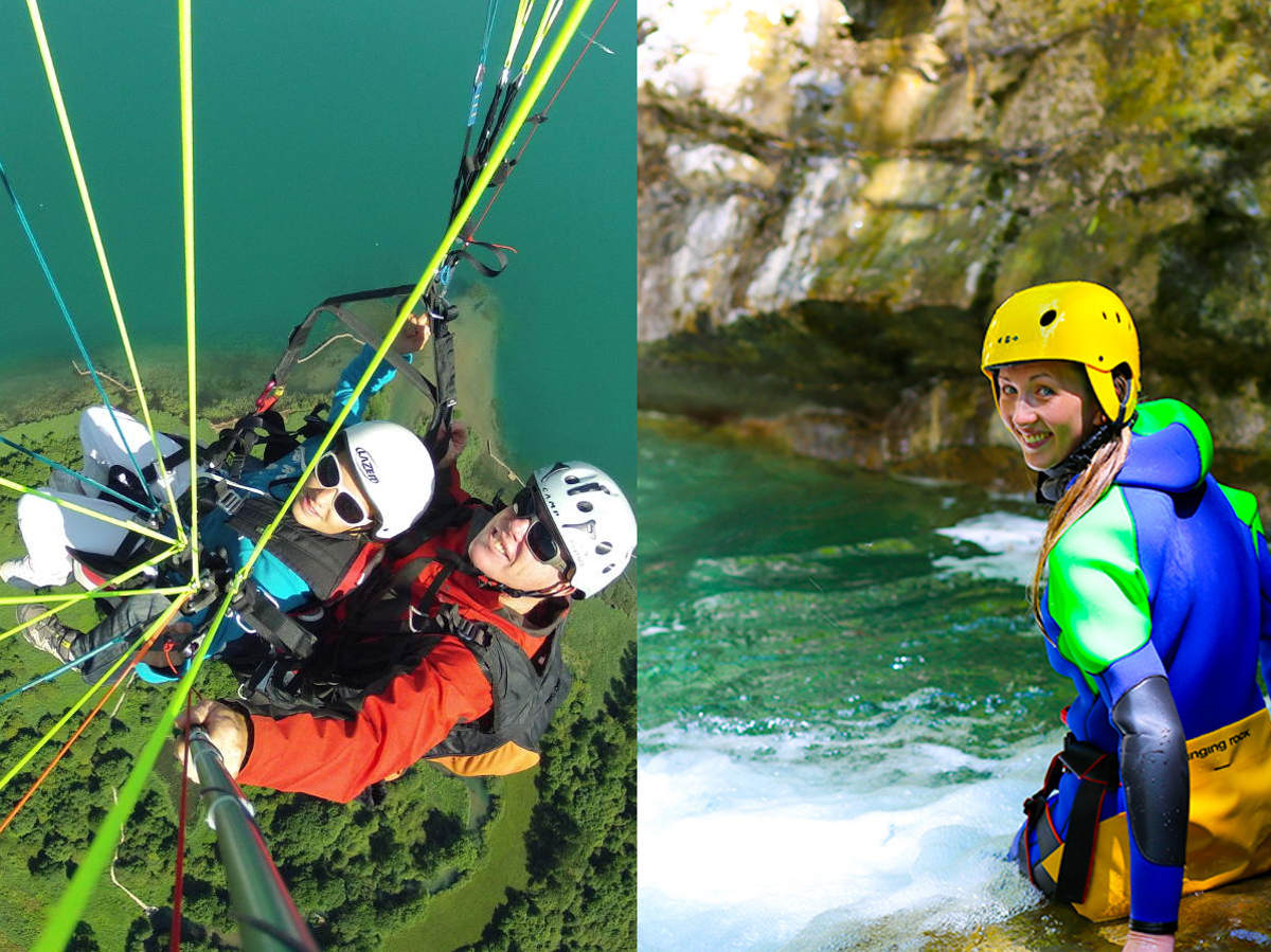 offre canyoning + parapente Annecy