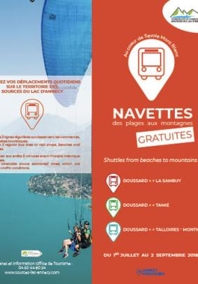 navettes plages lac annecy 2019