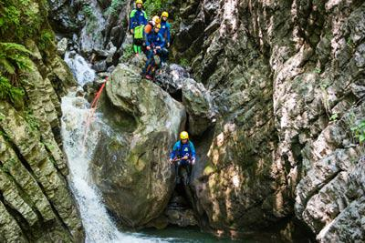 sortie sport canyoning sources lac annecy