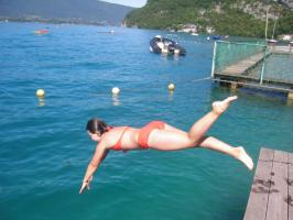 Lac Annecy Just swim natation aquaphobie