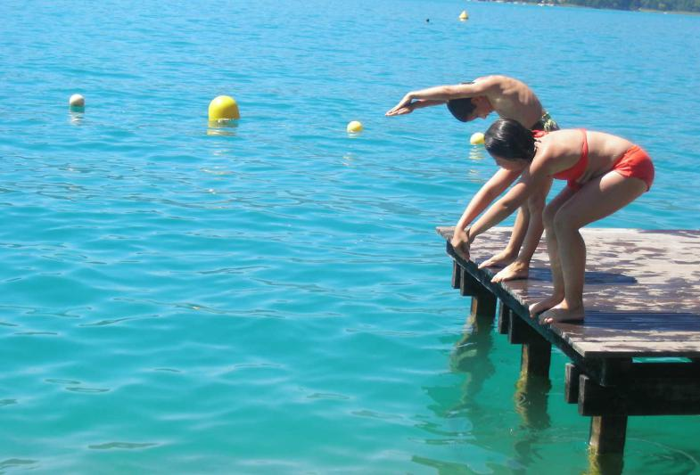 lac Annecy natation perfectionnement