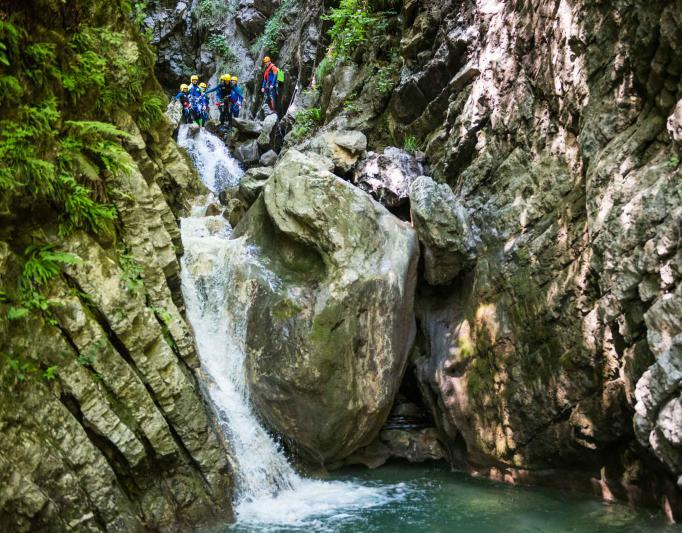 Annecy canyoning Montmin canyon et via ferrata