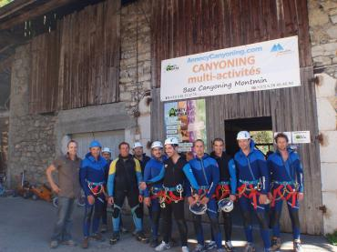 canyoning lac annecy montmin