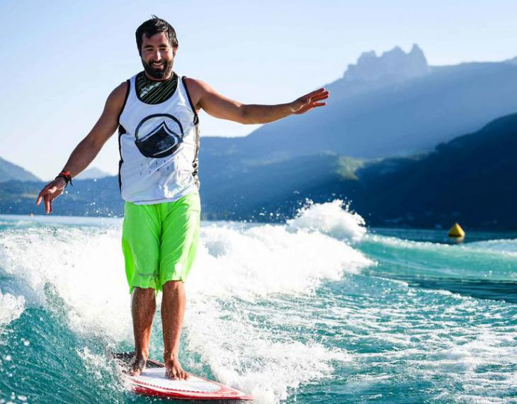 Lac Annecy Doussard wakeboard découverte
