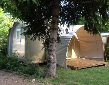 Lac Annecy Lathuile camping Les Fontaines hébergement insolite coco sweet